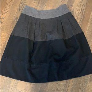 Vince gray ombré wool A line skirt size 8